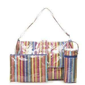 Kalencom Striped Laminated 4 Pc Buckle Diaper Bag